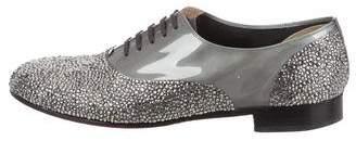 Christian Louboutin Swarovski Crystal & Leather Oxfords
