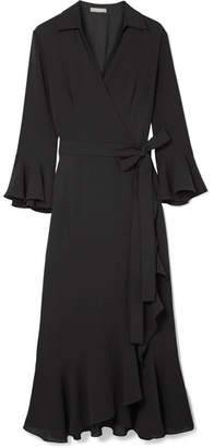 Michael Kors Ruffled Silk-georgette Wrap Dress