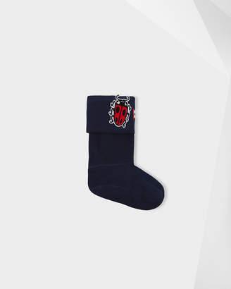 Hunter Kids Ladybug Patch Boot Socks