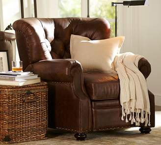 Pottery Barn Lansing Leather Recliner