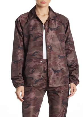 Wild Honey Camo Print Windbreaker Jacket