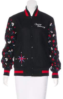Opening Ceremony Embroidered Varsity Jacket w/ Tags