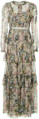 Needle & Thread floral print tiered dress