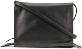 Jil Sander multiple zipped compartments shoulder bag