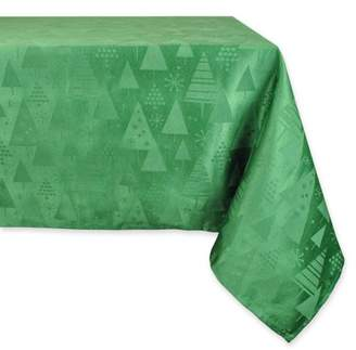 Dii Green Holiday Trees Tablecloth