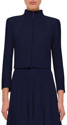 Akris Pandora Short Stretch Wool Jacket