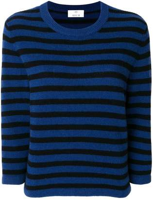 Allude striped crew neck jumper
