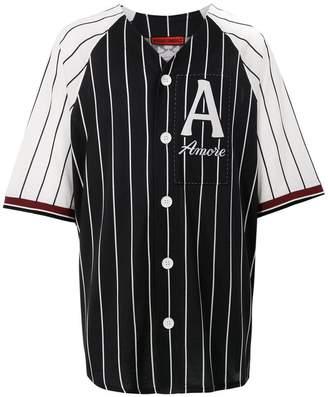 Dolce & Gabbana logo striped shirt
