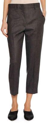 Jil Sander Tapered-Leg Cropped Wool Pants
