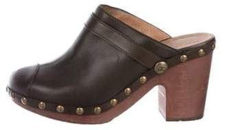 Chanel Studded CC Clogs Brown Studded CC Clogs