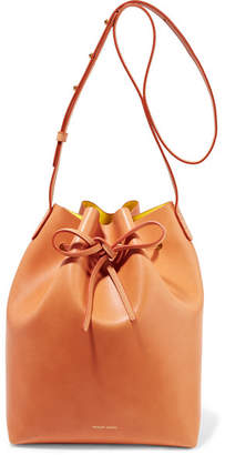 Mansur Gavriel Leather Bucket Bag - Camel