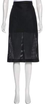 Ter Et Bantine Mesh Knee-Length Skirt Black Mesh Knee-Length Skirt