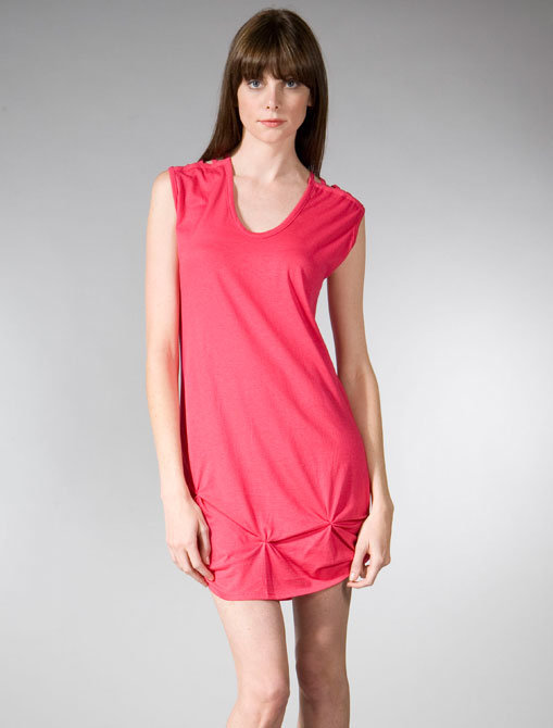 Kerrigan Long Knotted Tank Dress in Pink