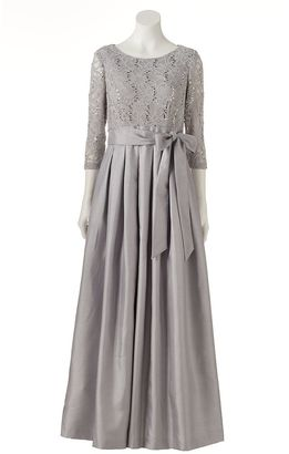 Women's Jessica Howard Pleated Lace Evening Gown $230 thestylecure.com