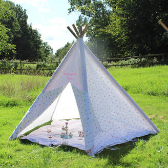 Lime Tree London Floral Teepee With Storage Bag And Play Mat