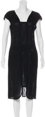 Chanel Swiss Dot Sheath Dress