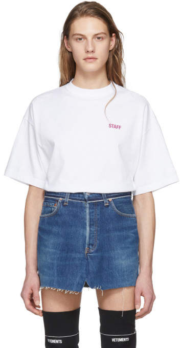 Vetements White Staff Entry Level T-Shirt