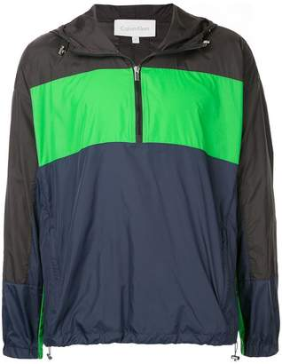 CK Calvin Klein colour block windbreaker