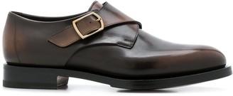 Santoni varnished monk shoes