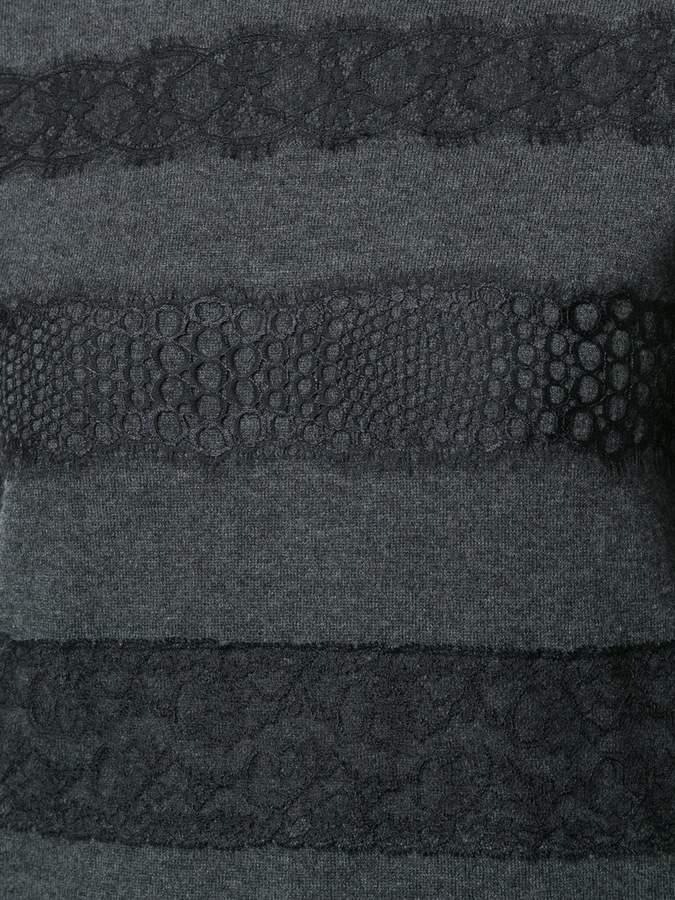 Giambattista Valli lace panel sweater