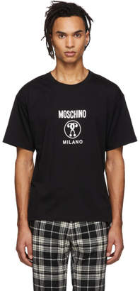 Moschino Black Small Double Question Mark T-Shirt