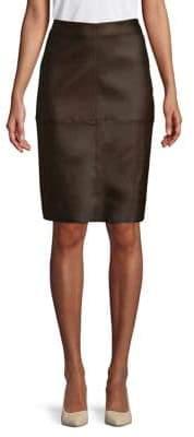 Max Mara Salima Leather Pencil Skirt