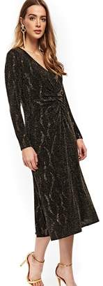 Wallis - Gold Sparkle Midi Shift Dress