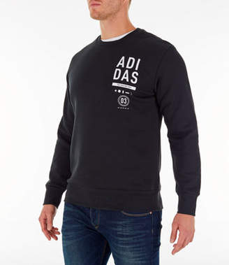 adidas Mens Athletics International Fleece Crewneck Sweatshirt