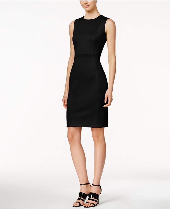 Calvin Klein Scuba Crepe Sheath Dress