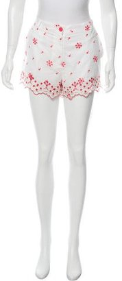 Alice by Temperley Embroidered Mini Shorts $65 thestylecure.com
