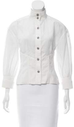 Chanel Tailored Button-Up Top