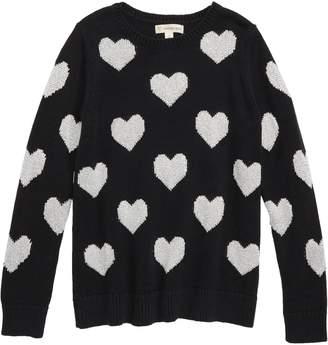 Tucker + Tate Metallic Heart Sweater