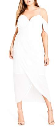 City Chic Entwine Cold Shoulder Maxi Dress