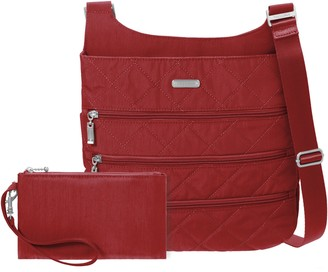 Baggallini Quilted Big Zipper Bagg with RFID Wristlet
