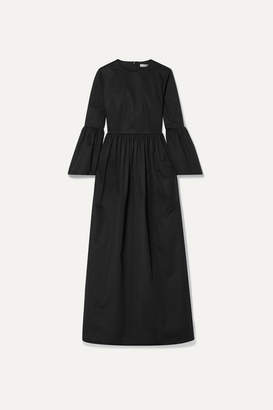The Row Sora Cotton-blend Poplin Maxi Dress - Midnight blue