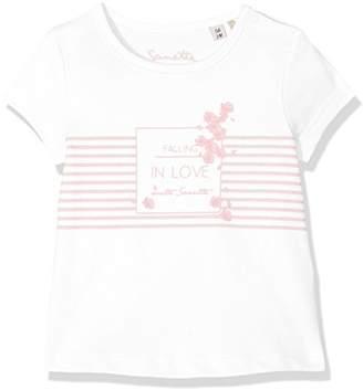Sanetta Baby Girls' 906475.0 T-Shirt, (White 10.0)