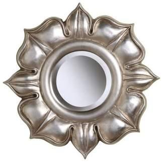 Sterling Industries Lotus Mirror, Silver Leaf