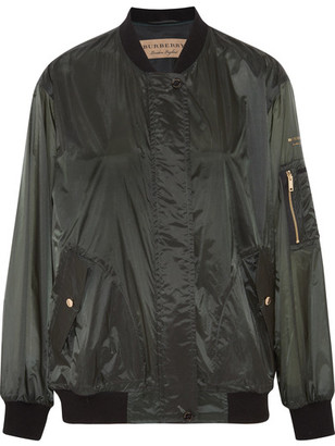 Burberry - Shell Bomber Jacket - Army green $695 thestylecure.com