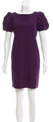Diane von Furstenberg Gathered Short Sleeve Dress