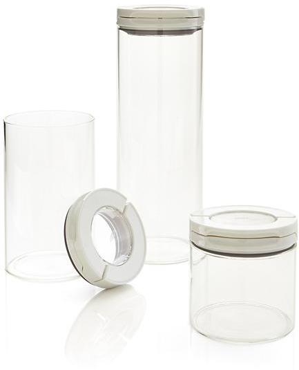 OXO Glass FlipLock Canisters Set of 3