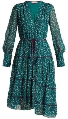 Altuzarra Isabel Floral Print Dress - Womens - Green Print