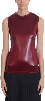 Givenchy Round-neck Burgundy Satin Top