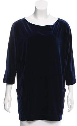 Only Hearts Velour Scoop Neck Tunic