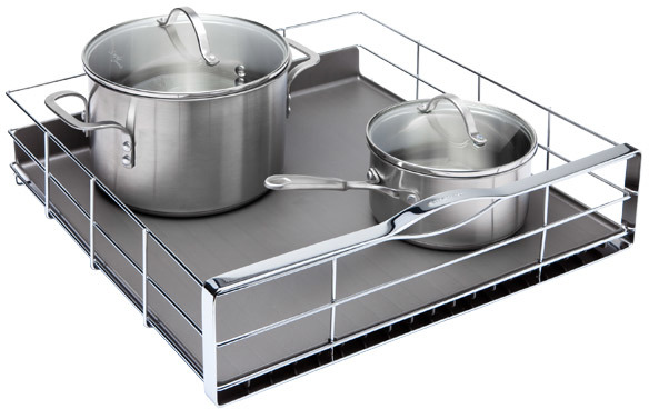 """Container Store 20"""" Pull-Out Cabinet Organizer Chrome"""