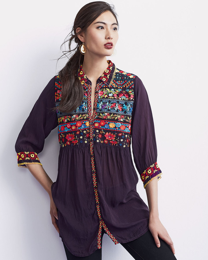 Johnny Was Artisan Embroidered Tunic, Plus Size