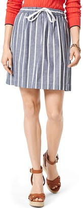 Final Sale- Chambray Stripe Skirt $119.50 thestylecure.com