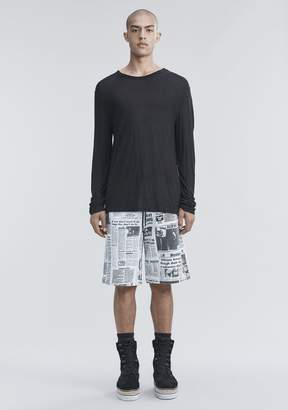 Alexander Wang SLUB RAYON SILK LONG SLEEVE TEE
