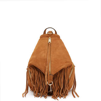 Rebecca Minkoff Tan Fringe Medium Julian Backpack