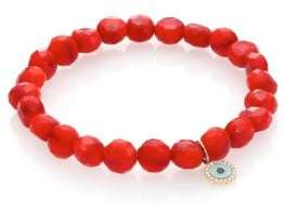 Sydney Evan Bright Coral Bracelet