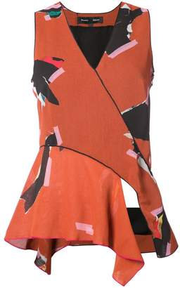 Proenza Schouler patterned v-neck sleeveless blouse